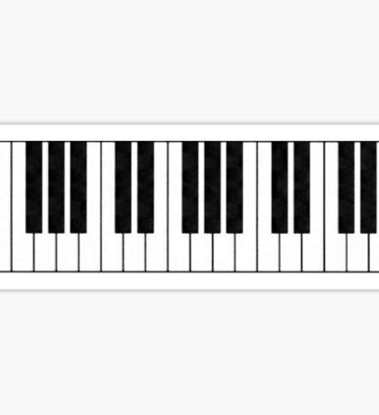 Piano Keys in the Key of Me! Sticker