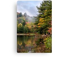 Morning Mist Fall Landscape Canvas Print