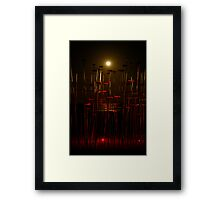 The Moon, the Sculpture and the Sea Framed Print