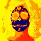 Day of the Dead #12 Selfie Digitized! by Heather Friedman