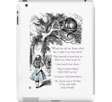 Cheshire Direction iPad Case/Skin