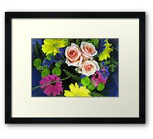 BOUQUET OF FLOWERS - THROW PILLOW Framed Print