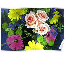 BOUQUET OF FLOWERS - THROW PILLOW Poster