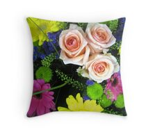 BOUQUET OF FLOWERS - THROW PILLOW Throw Pillow