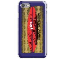 surf piha tribal tattoo wave board iPhone Case/Skin