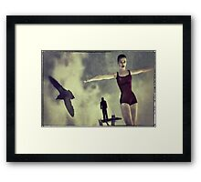 Fear of Falling Framed Print
