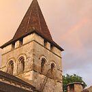 Sunset over the Cloister, Carennac, France 2012 by cschurch