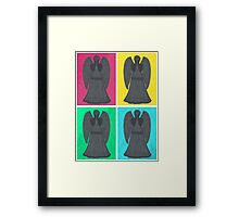 Weeping Angels Pop Art Framed Print