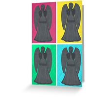 Weeping Angels Pop Art Greeting Card