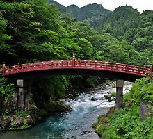 Sacred Bridge in Nikko, Japan by avresa