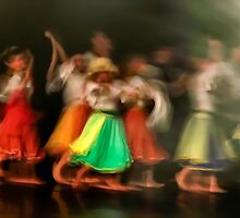 A group of Dancers in motion  by PhotoStock-Isra