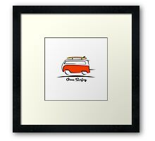 Red Van Gone Surfing  Framed Print