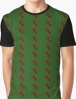 Season's Greetings from the Krampus (tiled pattern) Graphic T-Shirt