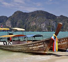 Long Tail Boats, Phi Phi Island by avresa