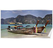 Long Tail Boats, Phi Phi Island Poster