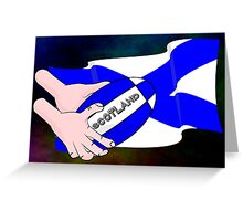 Rugby Scotland Flag Greeting Card