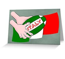 Italy Rugby Ball Flag Greeting Card