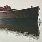 Very Misty Boat At Topsham by lynn carter