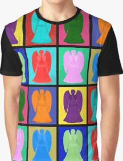 Weeping angels Pop Art Colour Graphic T-Shirt