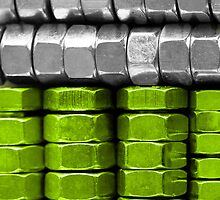 Absolutely Nuts Lime Green Wall Art III by Natalie Kinnear