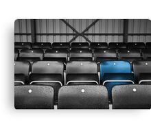 Blue Seat in the Football Stand Canvas Print