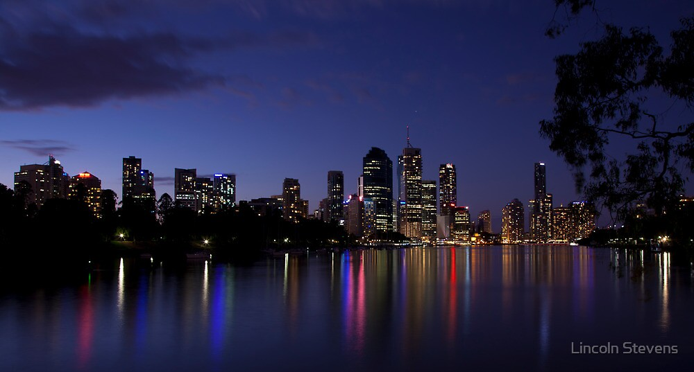 Blue Night & Coloured Lights by Lincoln Stevens