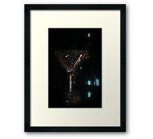 Martini Glass Framed Print