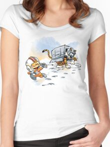 Attack of the Deranged Killer Snow Walkers Women's Fitted Scoop T-Shirt