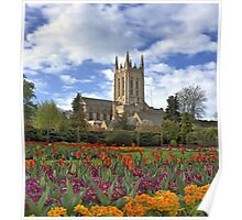 Abbey gardens and cathedral Bury St Edmunds Poster
