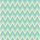 Aqua Blue Chevron Design by sweettoothliz