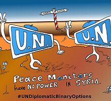Boinary Options Caricature UN Peace Monitors in Syria by Binary-Options