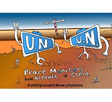Boinary Options Caricature UN Peace Monitors in Syria Photographic Print