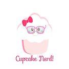 Cupcake Nerd iPhone Case by sweettoothliz