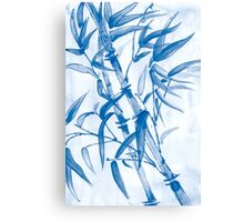 Tropical blue bamboo Canvas Print