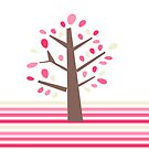 Pretty Pink Tree iPhone Case by sweettoothliz