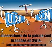 Caricature Options Binaires les moniteurs de l'ONU en Syrie by Binary-Options