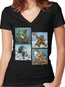Playful Rebels Women's Fitted V-Neck T-Shirt