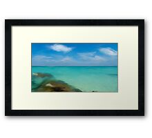 Playa Norte with oil Framed Print