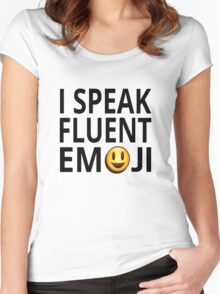 I Speak Fluent Emoji Women's Fitted Scoop T-Shirt