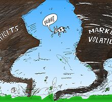 Binary Options News Cartoon Twin Twisters by Binary-Options