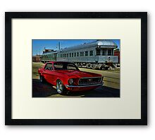 "1968 Mustang ""At the Station"" Framed Print"