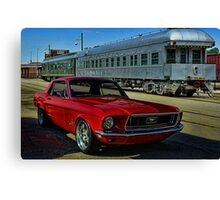 "1968 Mustang ""At the Station"" Canvas Print"