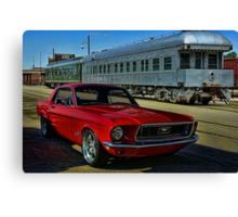 "1968 Mustang ""At the Station"" Canvas Print"