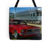 "1968 Mustang ""At the Station"" Tote Bag"