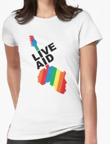 Live Aid Concet 1985 Womens Fitted T-Shirt