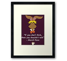 The March Hare Framed Print