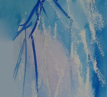 Blue branches iPhone case by © Pauline Wherrell
