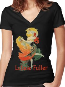 Jules Cheret - La Loie Fuller Women's Fitted V-Neck T-Shirt