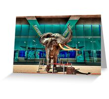 Elephant Statue at Cape Town International Airport, South Africa Greeting Card