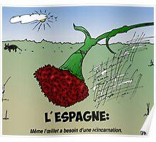 Caricature des Infos Options Binaires Reincarnation en Espagne Poster